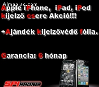 Apple iPhone, iPad, iPod Kijelzőcsere
