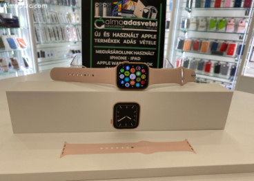 Apple Watch 5 44mm Gold/KARCMENTES/2022.jan.28-ig gyári Apple garancia