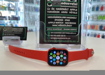 Apple Watch 6 44mm RED/2021.nov.12-ig gyári Apple Garancia/Karcmentes/